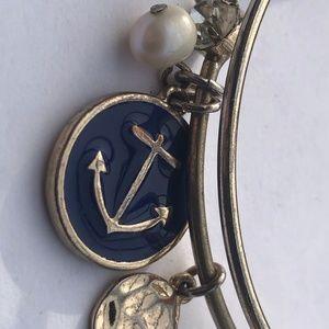 Anchor Nautical charm bracelet Delta Gamma